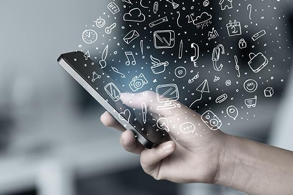Mobilfunk Privatkunden Content Smartphone Symbole